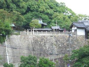 平野展望公園から見た祇園神社