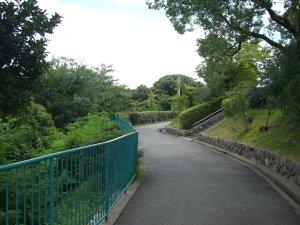 会下山公園へ頂上へ続く道