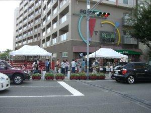 長田の食遊館前で