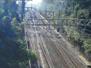 敦盛橋からみた山陽電鉄