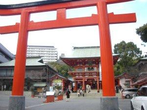 生田神社 鳥居と楼門