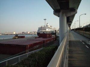 ポートターミナルに入港するフォーレンダム