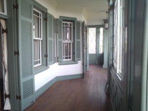旧ハンター住宅 ベランダ