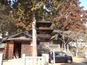 六條八幡神社 三重塔