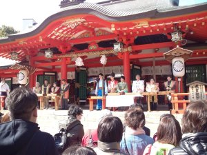 生田稲荷神社祭 餅まき神事