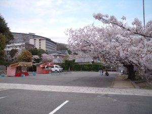 神戸護国神社には 屋台がでています