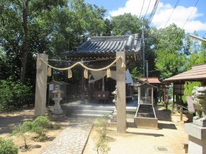 箕谷神社の拝殿