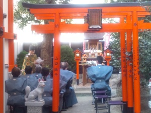 三義稲荷神社 初午祭の神事
