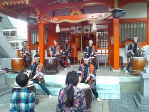日本太鼓の演舞