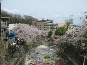 有馬温泉 太閤橋から川下側