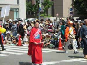 行進中の篤姫