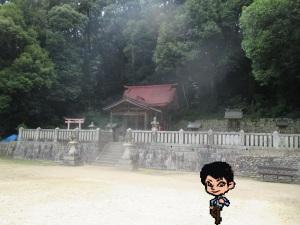 原野 八阪神社の拝殿と摂社