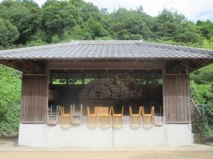 原野の八阪神社 農村歌舞伎舞台