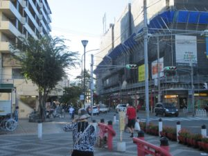 長田神社前の商店街