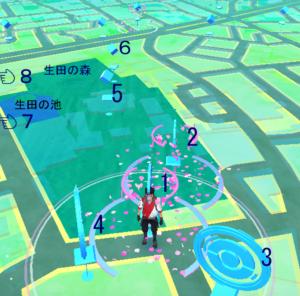 ポケモンGO 生田神社全体図