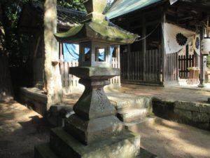 小上神社 太神宮の石灯籠
