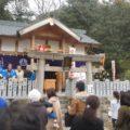 北野三森稲荷神社 二午祭で餅まき