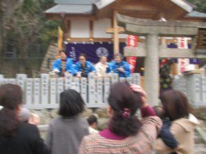 北野三森稲荷神社 二午祭 餅まき